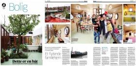 artikel in noorse krant over onze woonboot in amsterdam