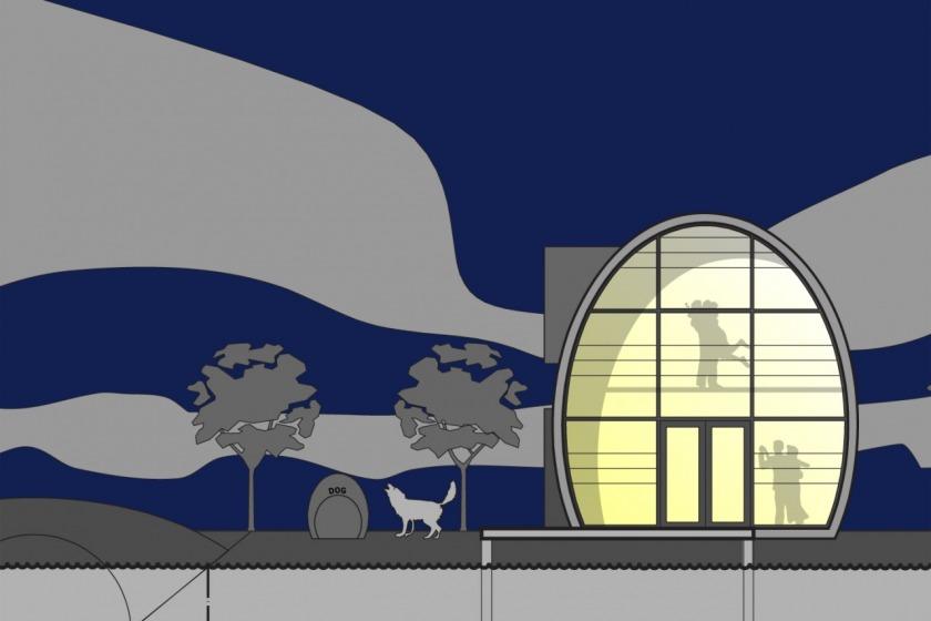 HOYT architect zinken schip rotterdam modern wonen aan het water particulier gevel