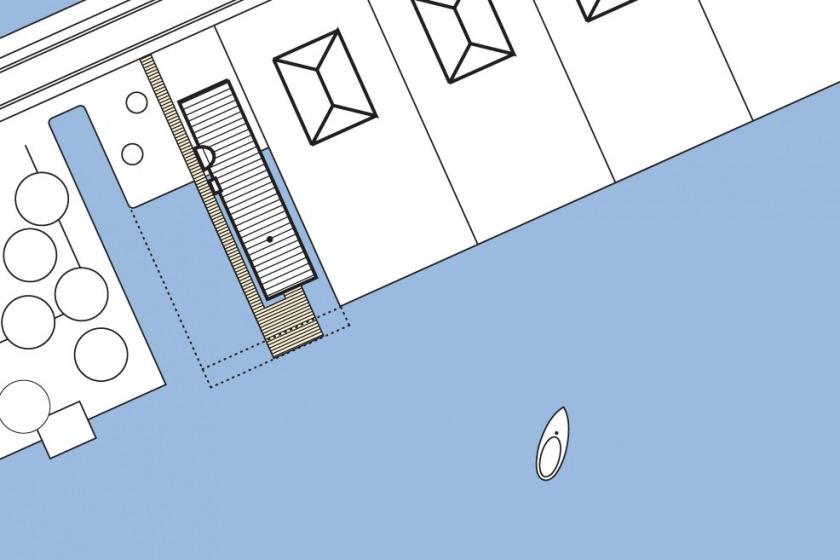 HOYT architect zinken schip rotterdam modern wonen aan het water particulier situatie