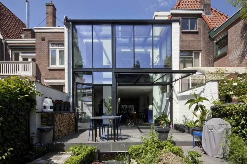 rotterdam glass extension modern architecture 30's private client HOYT architect