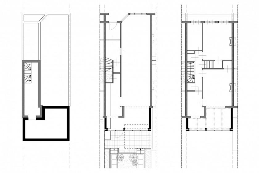 rotterdam glazen uitbouw modern architectuur glas jaren 30 particuliere woning HOYT architect plattegrond