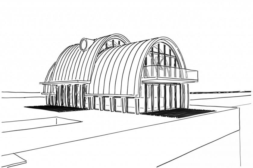 zinc fish restaurant ellipse amsterdam ijburg modern architecture architect HOYT