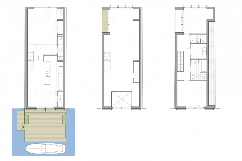 HOYT architect moders private house photostudio Amsterdam wood floor plan
