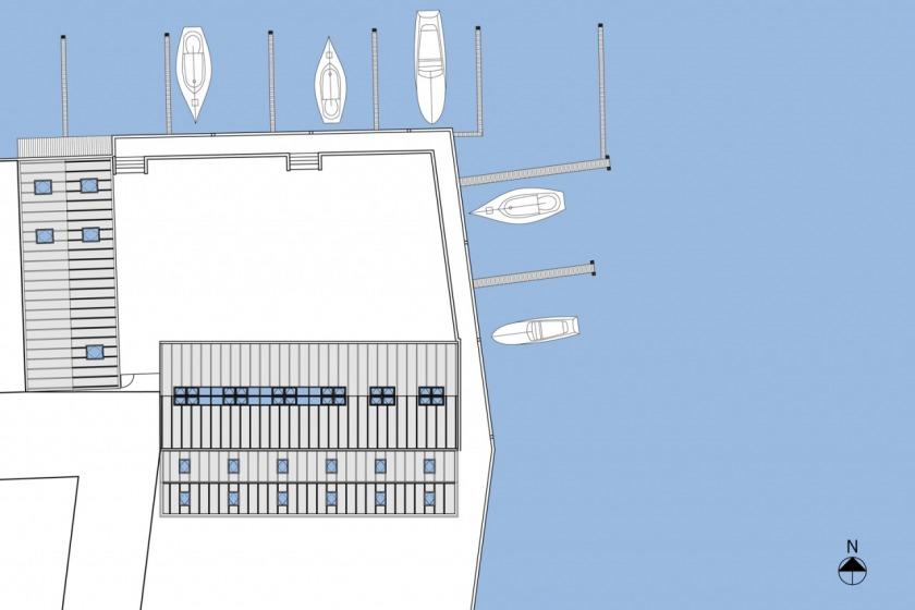 HOYT architecten appartement scheepswerf walvis hout maritiem situatie