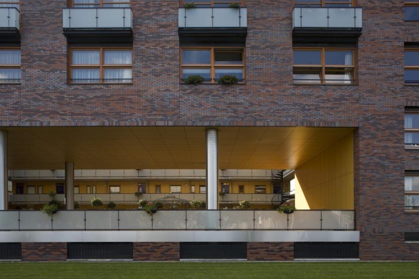 appartement appartementengebouw architect architectuur baksteen metselwerk balkons
