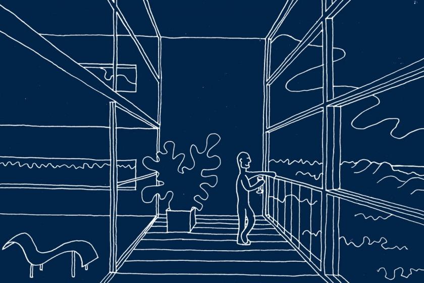 appartement appartementengebouw architect architectuur baksteen metselwerk balkons cartoon