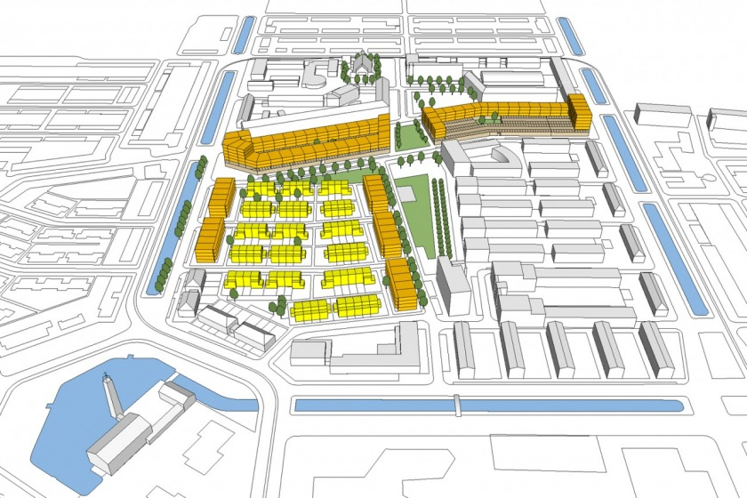 HOYT architect rotterdam schiebroek urban plan studie peppelweg