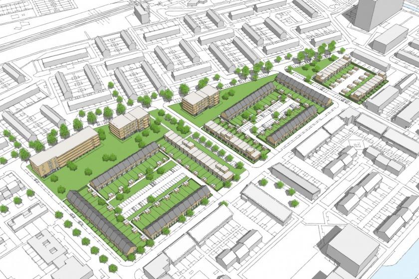 HOYT architect stedenbouwkundig plan herstructurering rotterdam hoogvliet Heerlijk Houtingen