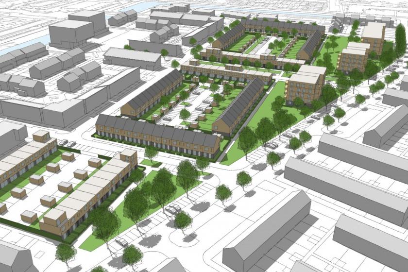 HOYT architect urban plan urban renewal rotterdam hoogvliet Heerlijk Houtingen