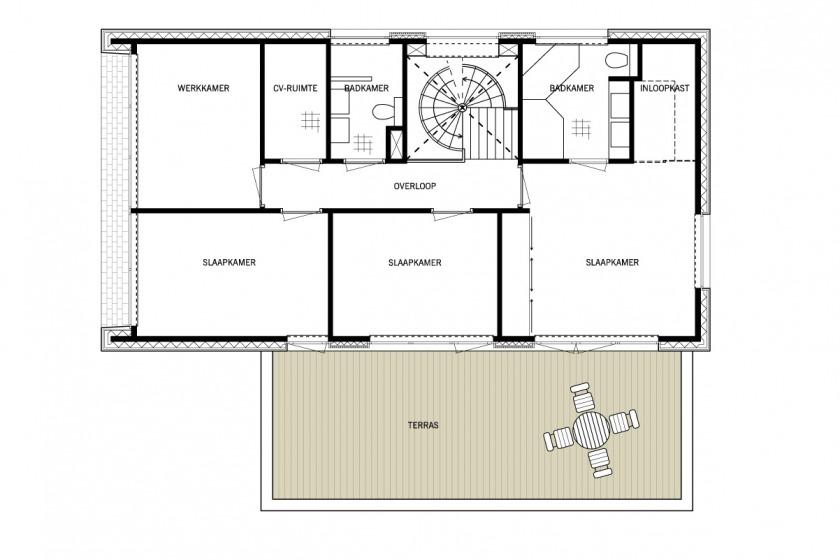 plattegrond eerste verdieping Villa Festen