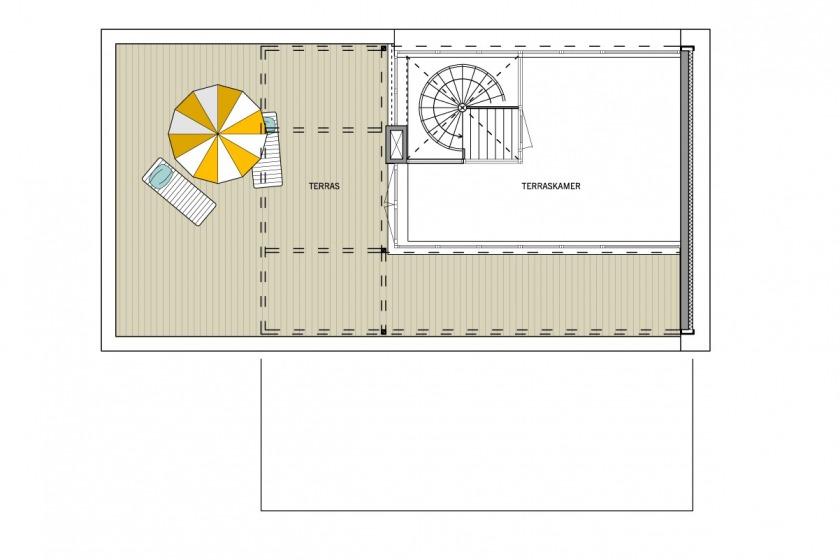 plattegrond tweede verdieping Villa Festen