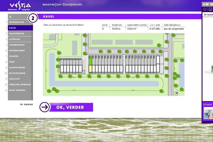 HOYT architect multimedia web application housing configurator house compose composer click option extension new building project Goudplevier Rotterdam Hoogvliet Vestia