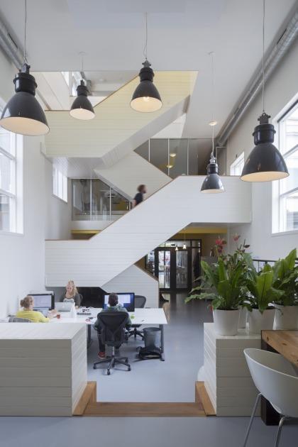 Den Haag kantoor transformatie trap vide kerk