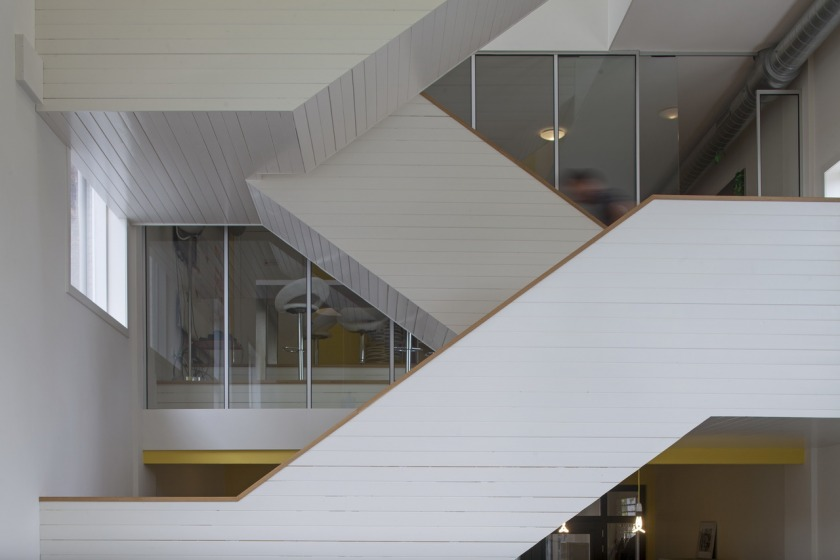 The Hague office transformation church stairs