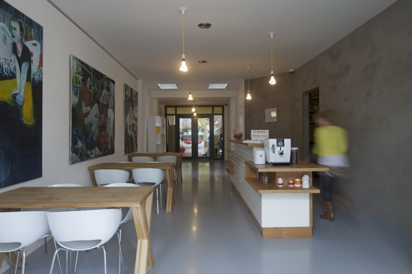 The Hague office transformation church cafe