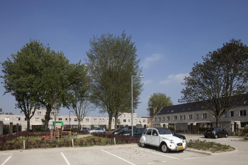 Rotterdam Hoogvliet parkeerhof