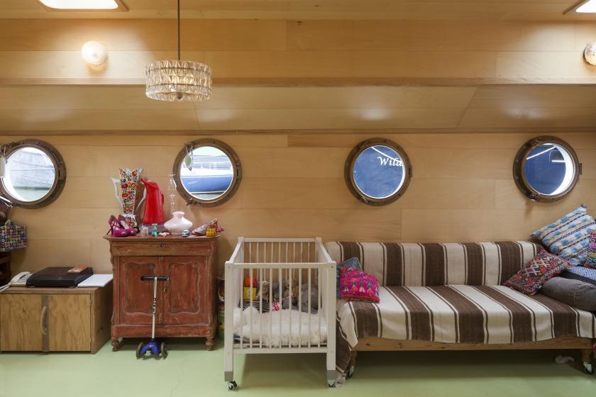 La Gondola woonboot verbouwing patrijspoorten