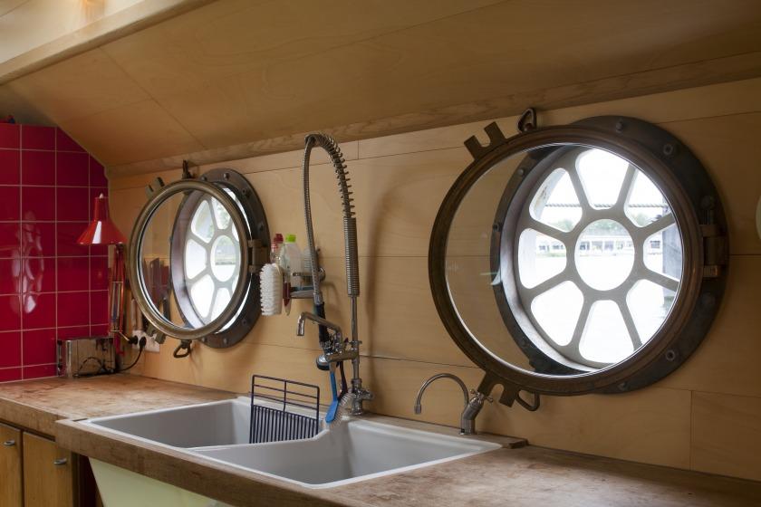 La Gondola house boat Refurbishment kitchen