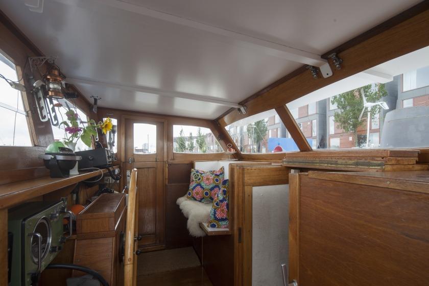 La Gondola woonboot verbouwing stuurhut