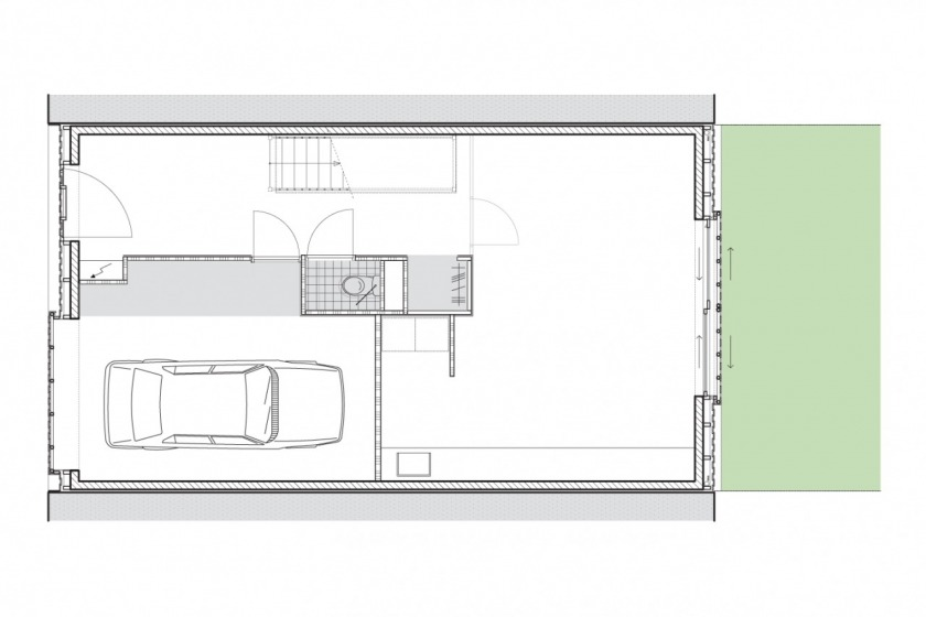 private house architecture Amsterdam IJburg floorplan ground floor