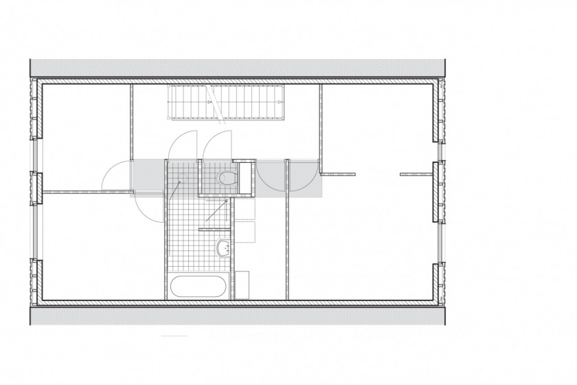 private house architecture Amsterdam IJburg floorplan second foor