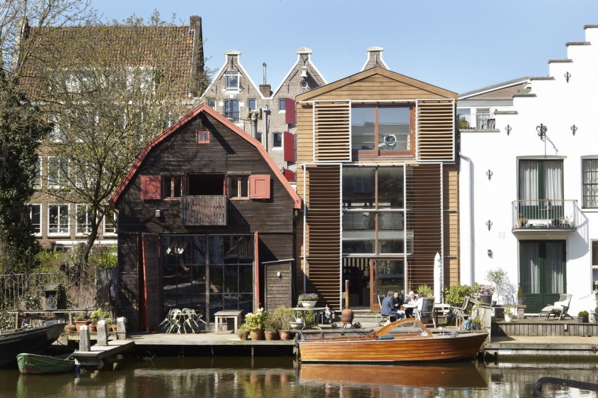 Amsterdam house Hoyt architects wood