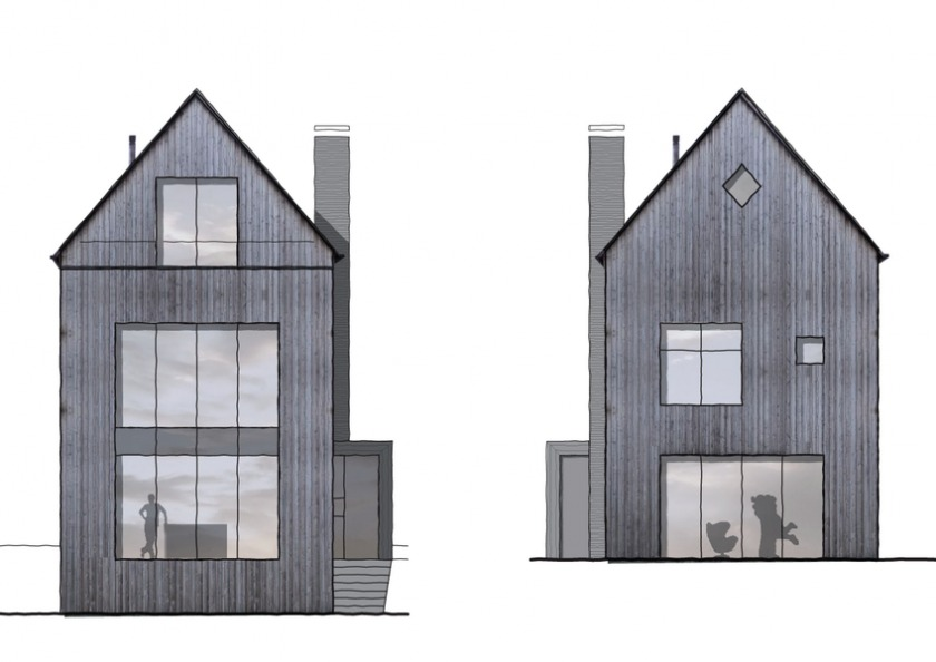 huis HOYT Architect Huis schuur Barn