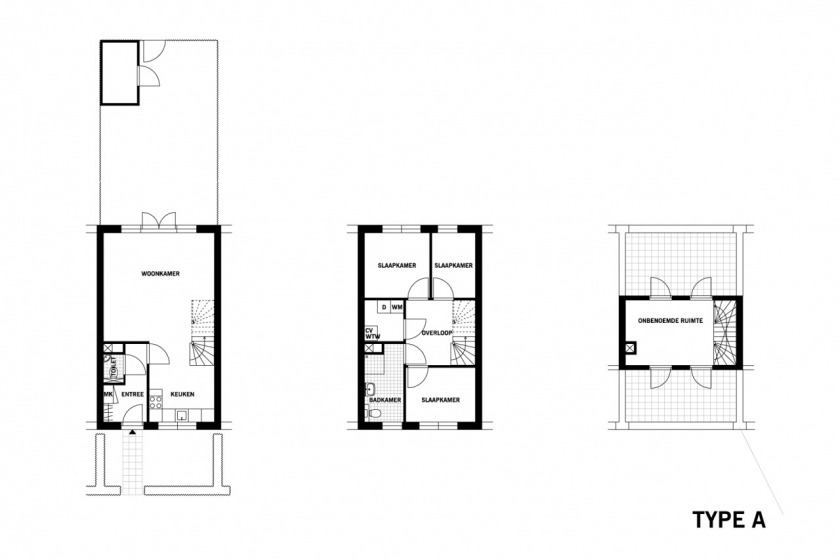 architect HOYT renewal of old area Schiebroek housing architecture floorplan