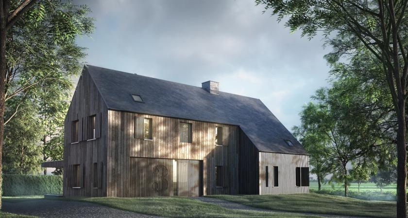 schuur huis schuurwoning HOYT hout cladding western red cedar