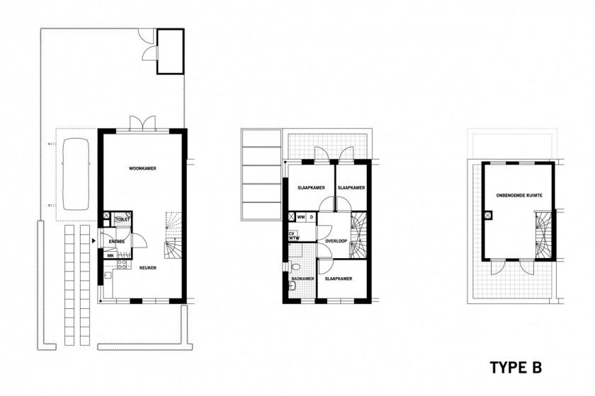 architect HOYT renewal of old area Schiebroek housing architecture floorplan
