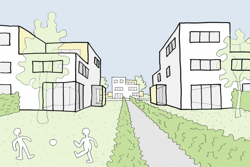 architect HOYT renewal of old area Schiebroek housing architecture sketch