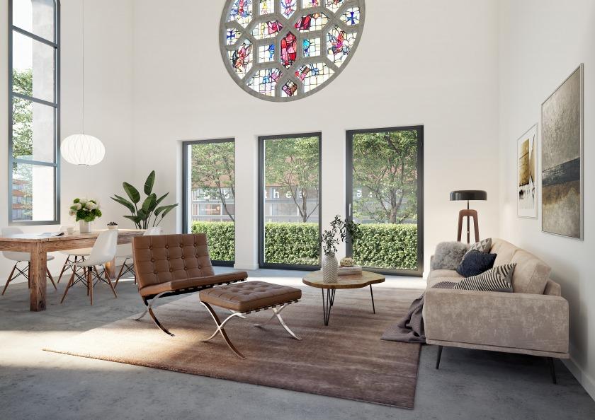 Transformatie Kerk appartementen HOYT Architect Rotterdam