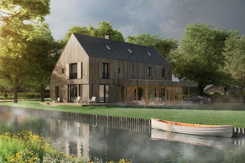 Houten huis Broek in Waterland