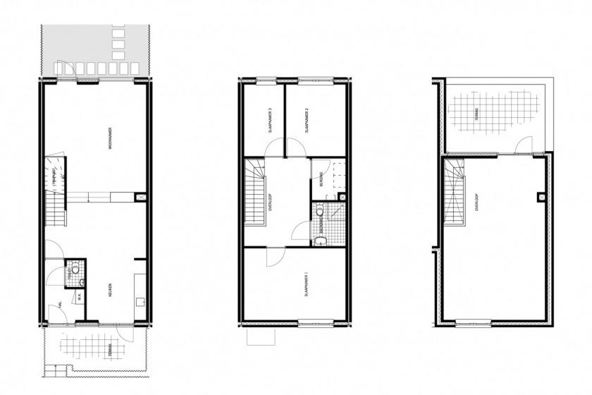 30 houses housing configurator hoogvliet social housing options HOYT architect floorplan