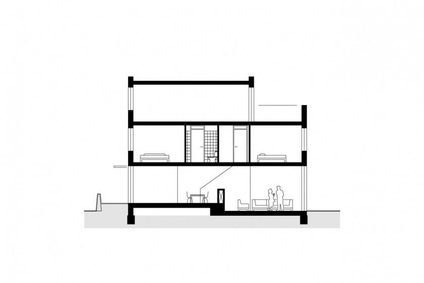 30 woningen hoogvliet barbeelsingel woningconfigurator woonwijzer herstructurering keim HOYT architect doorsnede
