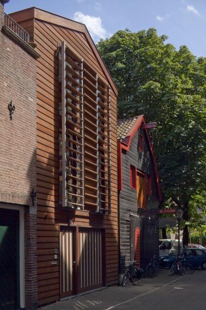 HOYT architect modern woonhuis fotostudio Amsterdam hout